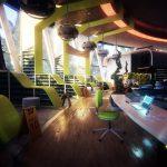 sunlit area indoors