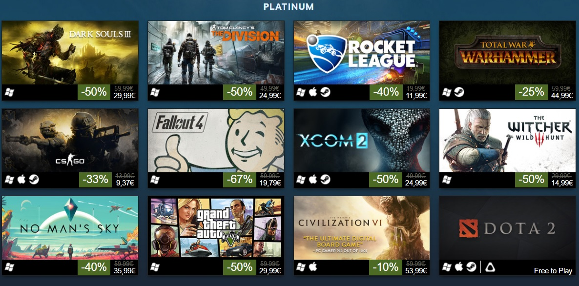here are the top 100 best selling games on steam in 2016
