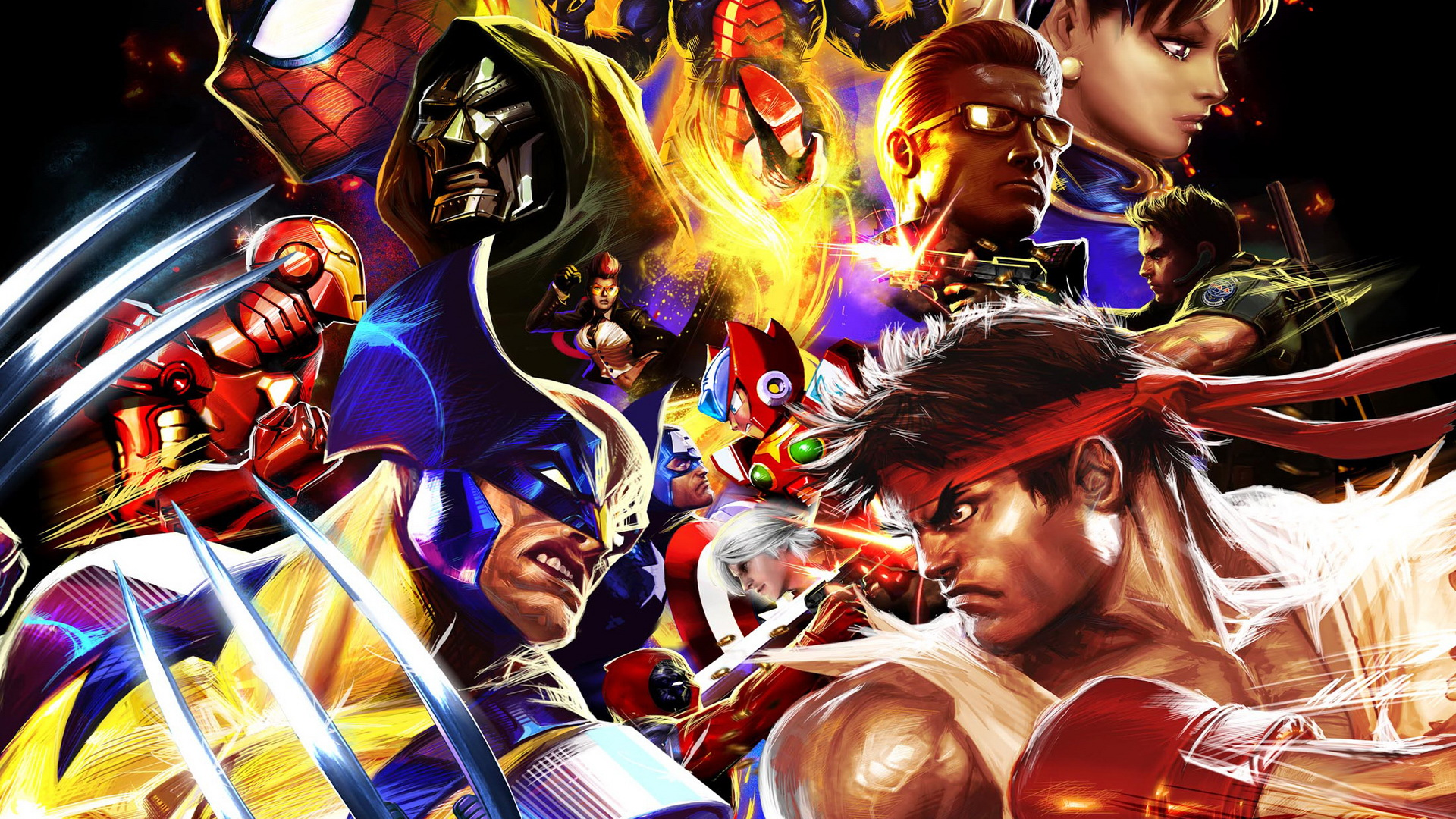 Ultimate Marvel vs Capcom 3 cast Wallpaper by bxb-minamimoto on ...