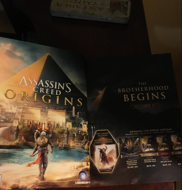 Assassin's Creed: Origins to Release October 27, According to Leak