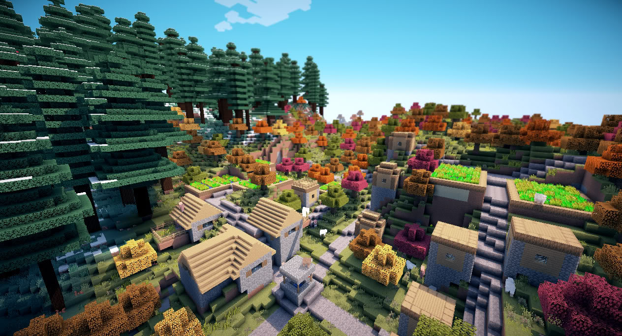 Minecraft Extreme Graphics Achieved With Sonic Ether's
