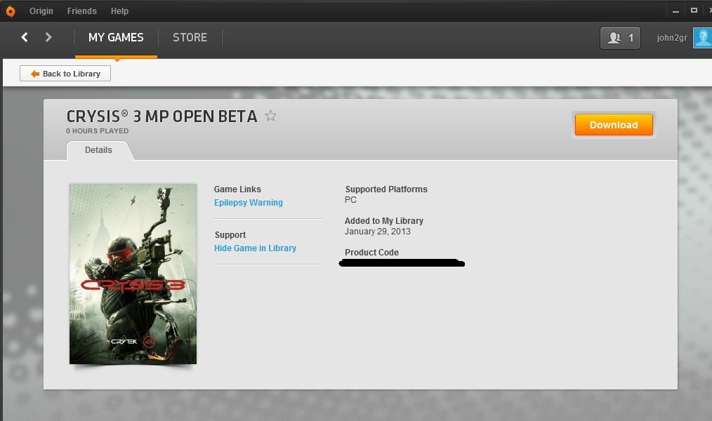Crysis 3 MP Beta