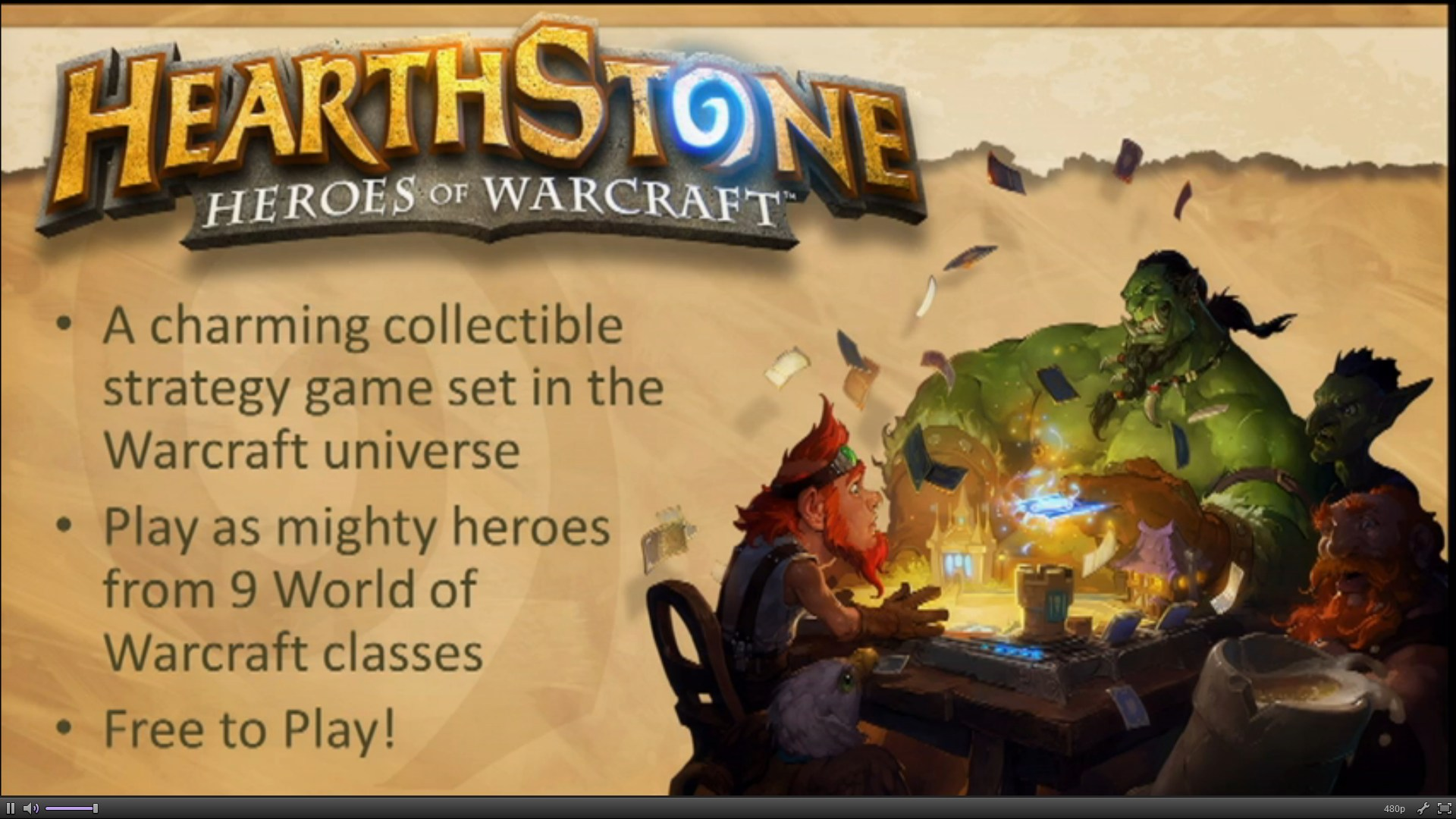 Hearthstone Heroes of Warcraft announcement