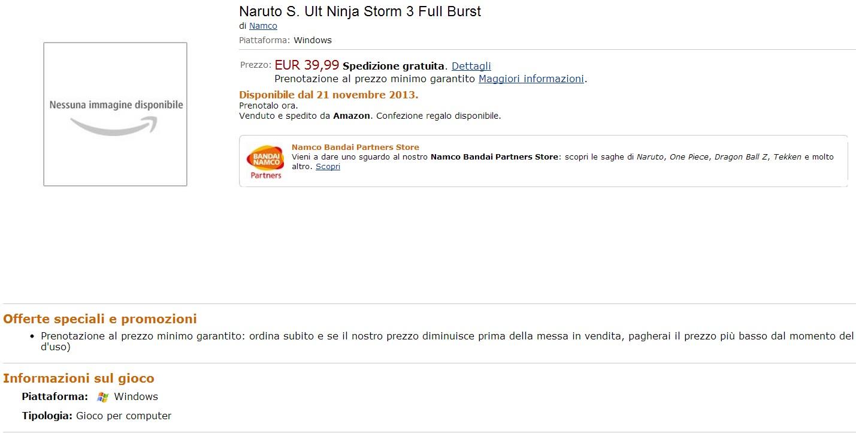 Naruto S Ult Ninja Storm 3 PC Amazon