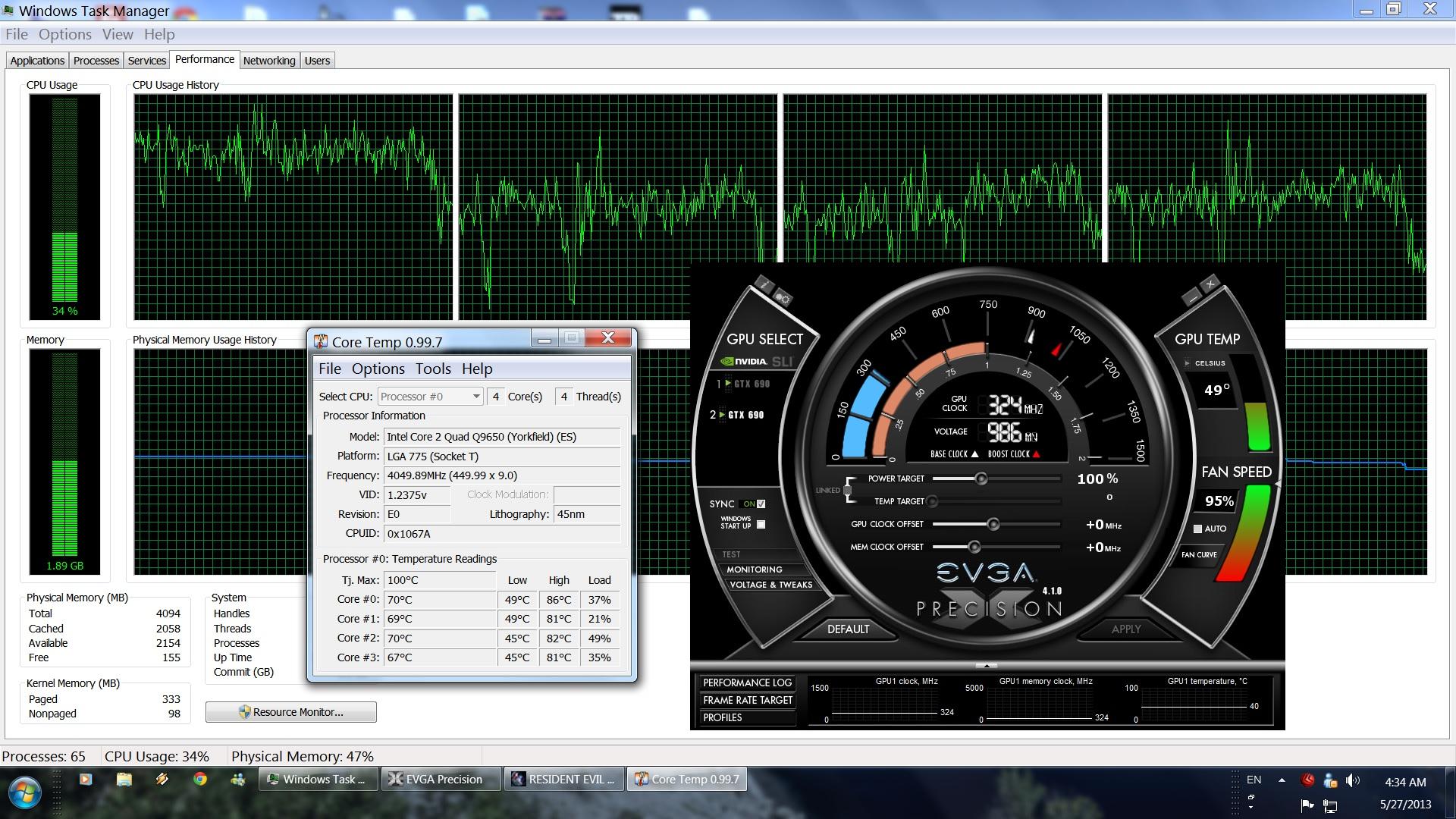 RE Revelations CPU Performance