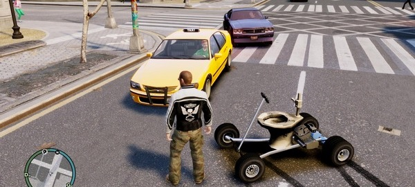 gta iv toilet bowl car
