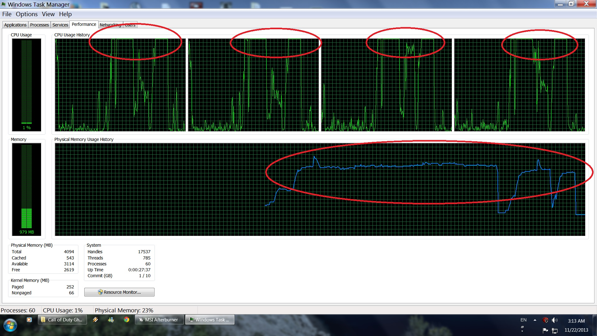 COD Ghosts 100 CPU bug issue