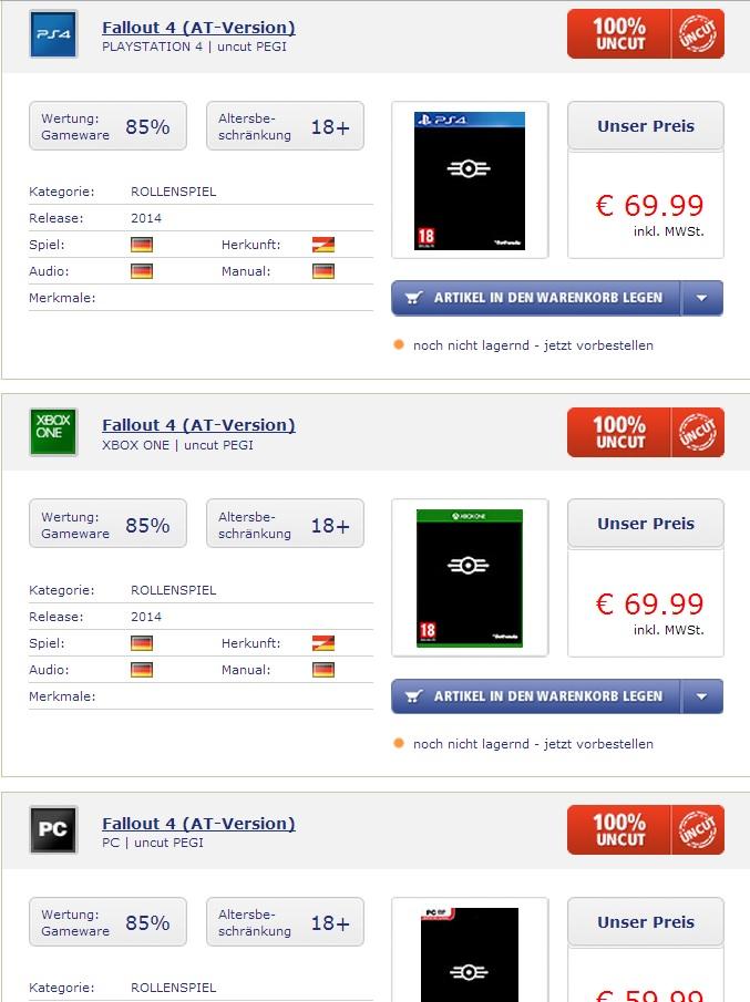 fallout 4 german listing