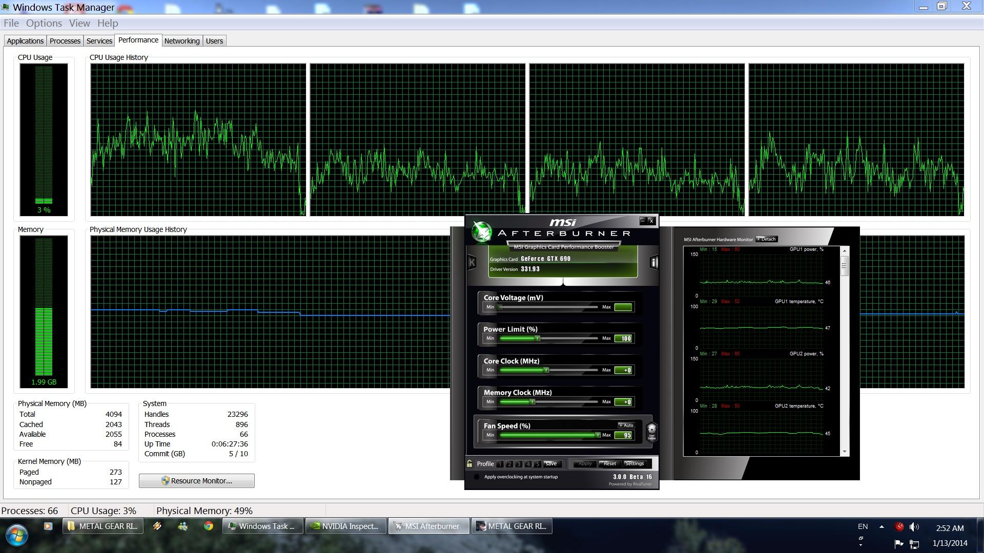 MGRR PC Performance