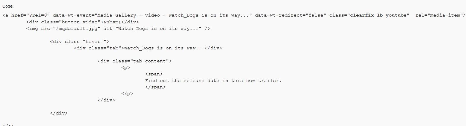 watch dogs trailer code