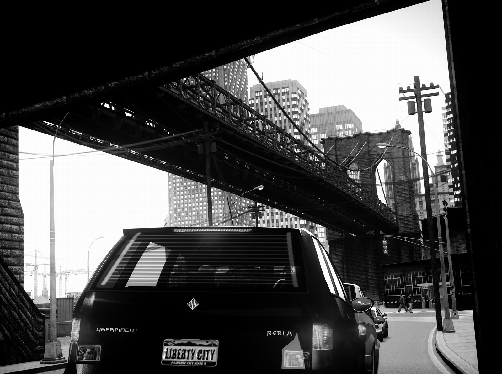 GTA IV Rendered At 6K In Black & White Looks So Real Thanks