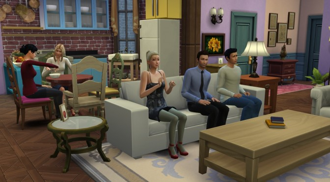 TV-Series 'Friends' – Environments + Characters – Recreated In The Sims 4