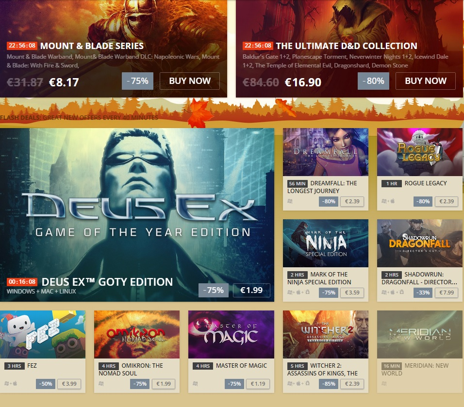 GOG Big Fall Sale