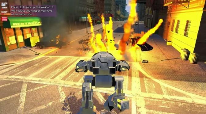 Grand Theft Auto IV – Robocop ED-209 Invades Rockstar's Open World Title