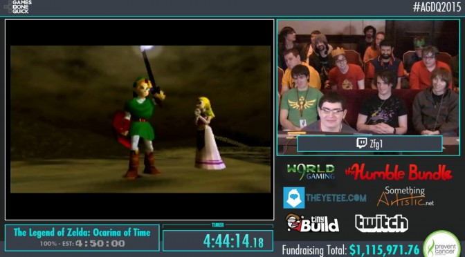Awesome Games Done Quick 2015 Marathon Ended, Has Raised Over $1.2 Million