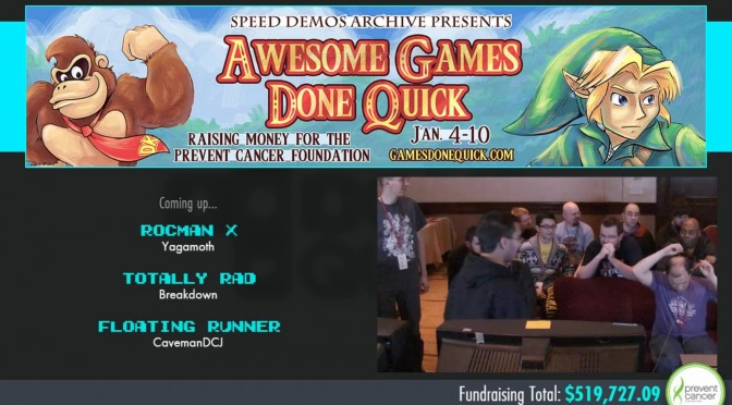 Awesome Games Done Quick 2015 Has Raised Over Half Million Dollars, Two Days Left To The Marathon