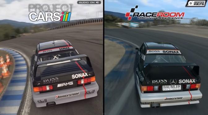 Project CARS versus RaceRoom R.E. – Mercedes 190E Evo II DTM At Laguna Seca