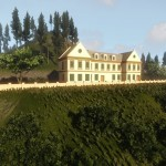 View-to-an-Old-Hillside-House