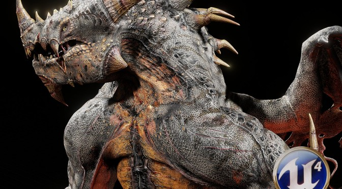 """""""Ragnosaur"""" Shows a Highly Detailed Dragon Running in Realtime in Unreal Engine 4"""