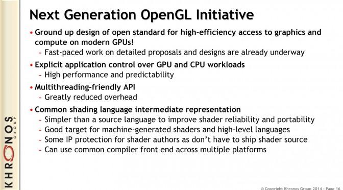 The Khronos Group Officially Reveals Vulkan – Next-Gen OpenGL Open-Standard API