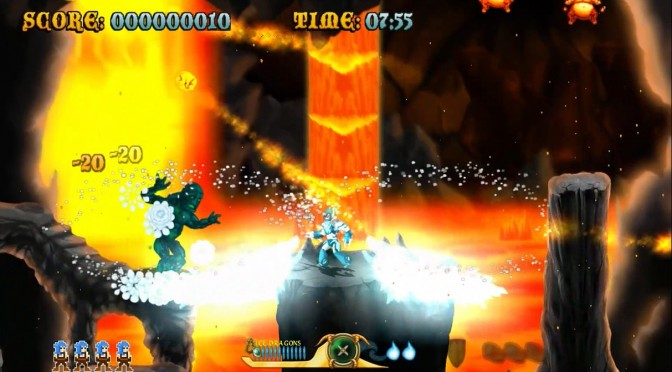 Cast of the Seven Godsends – Retro-style Gun 'n Run Arcade Game – Releases This July