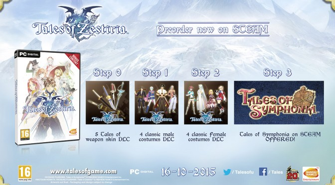 Tales of Symphonia HD Coming To PC In 2016, May Be Included As A Bonus Pre-Order For Tales of Zestiria