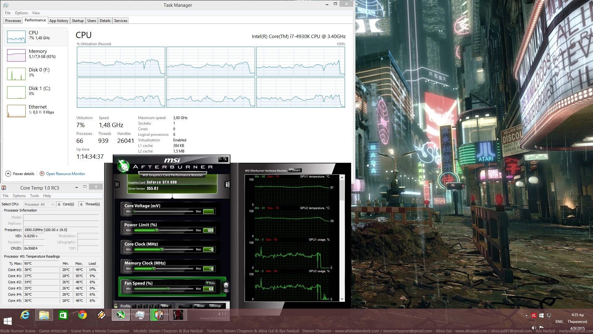 Metal Gear Solid V CPU Performance
