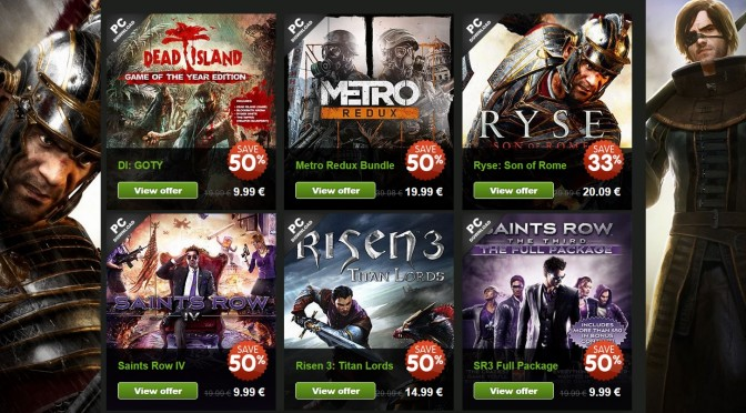 Deep Silver's Games With Up To 73% Discount On GreenManGaming (Metro, Saints Row, Ryse, Dead Island)