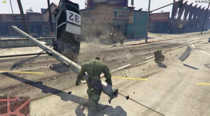 New Hulk mod available for download for Grand Theft Auto 5