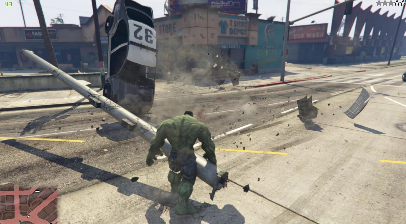 New Hulk mod available for download for Grand Theft Auto 5 - DSOGaming