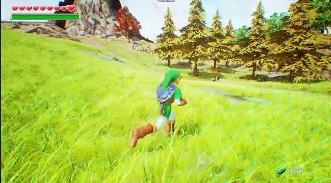 The Legend of Zelda: Ocarina of Time's Hyrule Field Recreated In Unreal Engine 4