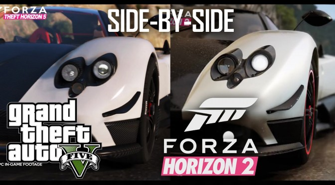 Forza Horizon 2 Trailer Recreated In Grand Theft Auto V (Side-By-Side Comparison Video)