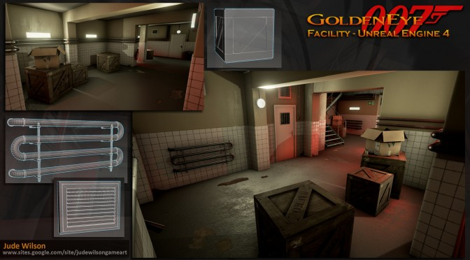 GoldenEye 007's Facility Environment Recreated In Unreal Engine 4
