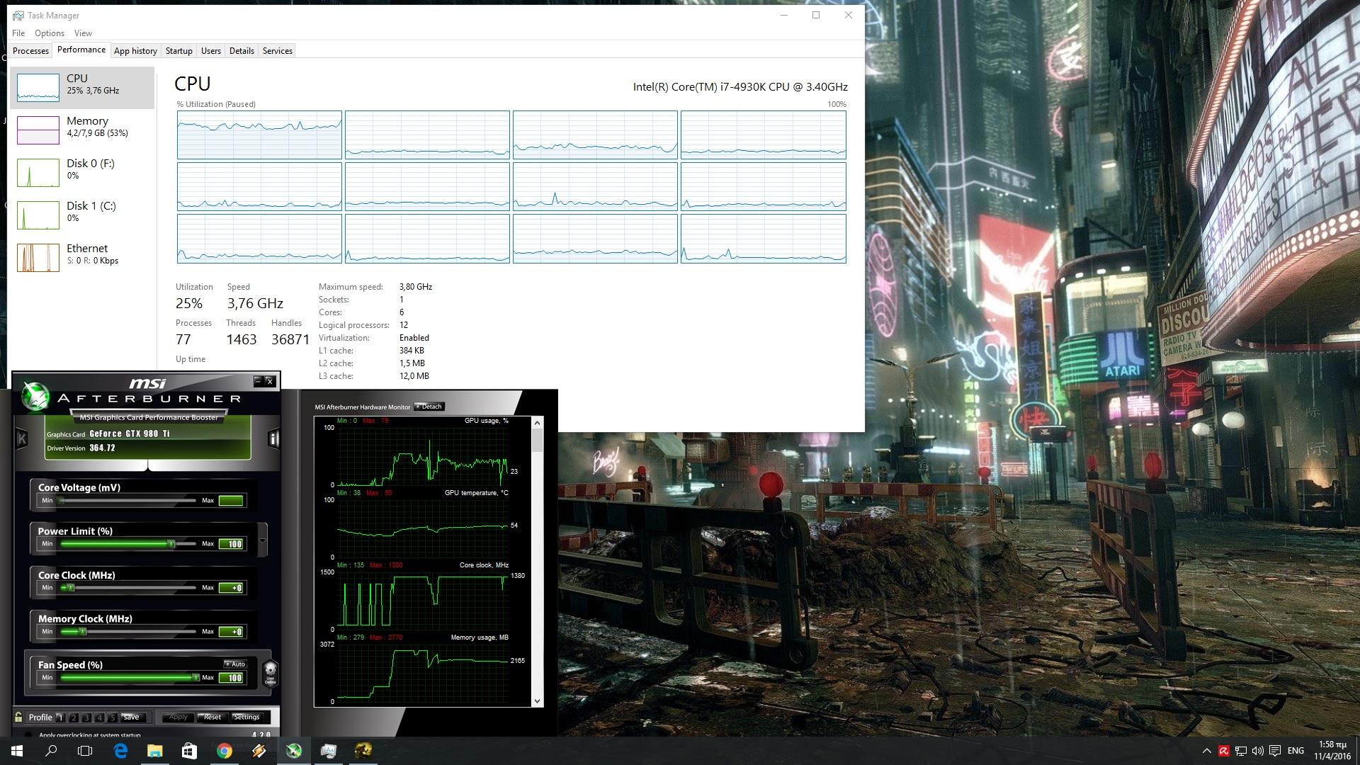 Dark Souls III CPU Graph