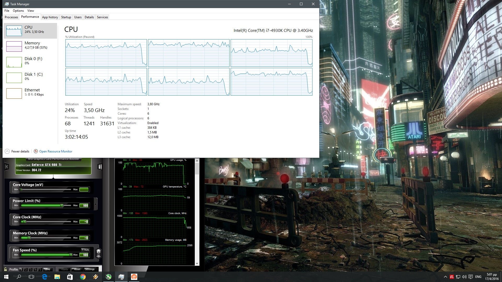 Everybodys Gone to the Rapture CPU Graph