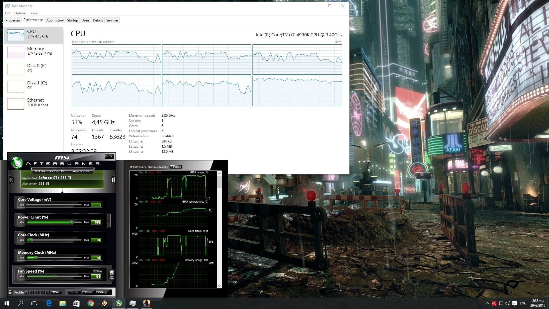 The Technomancer CPU Graph