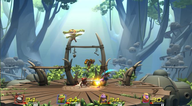 Brawlout is a competitive platform fighting game inspired by Super Smash Bros