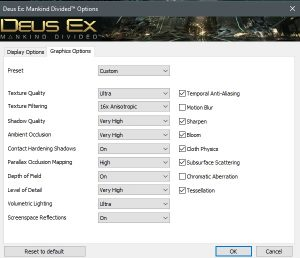 Deus Ex Mankind Divided settings for GTX980Ti no2