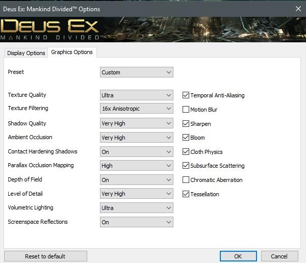 Deus Ex Mankind Divided settings for GTX980Ti no2