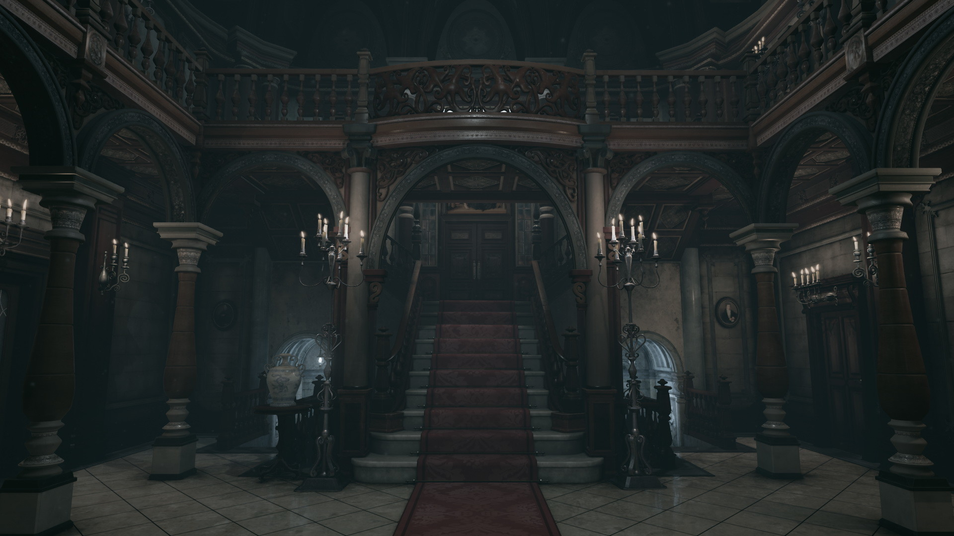 Resident Evil's mansion hall looks great in Unreal Engine 4