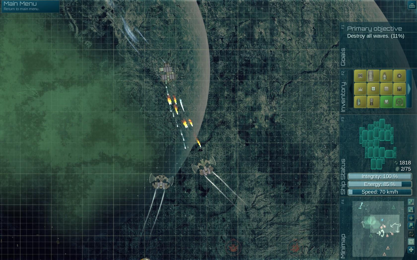 Map objective: destroy enemy ships.