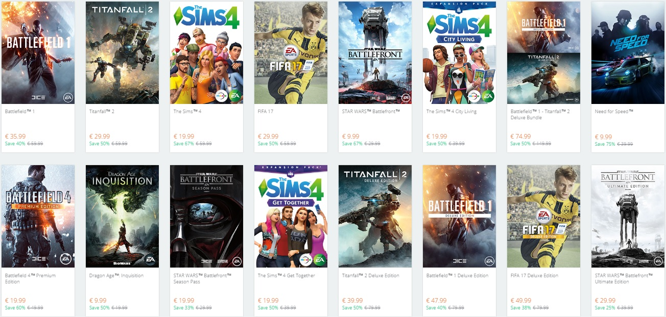 ea origin winter holiday sale 2016 launched dsogaming the dark