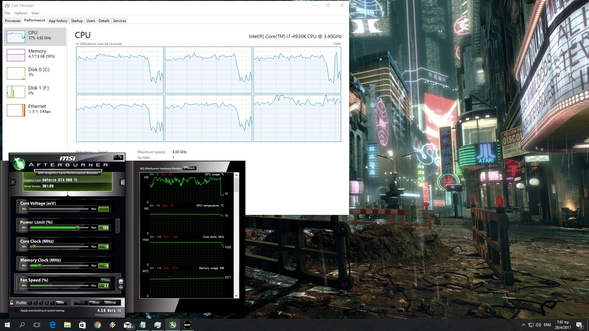For this PC Performance Analysis, we used an Intel i7 4930K (overclocked at  4.2Ghz) with 8GB RAM, NVIDIA's GTX980Ti and GTX690, Windows 10 64-bit and  the ...