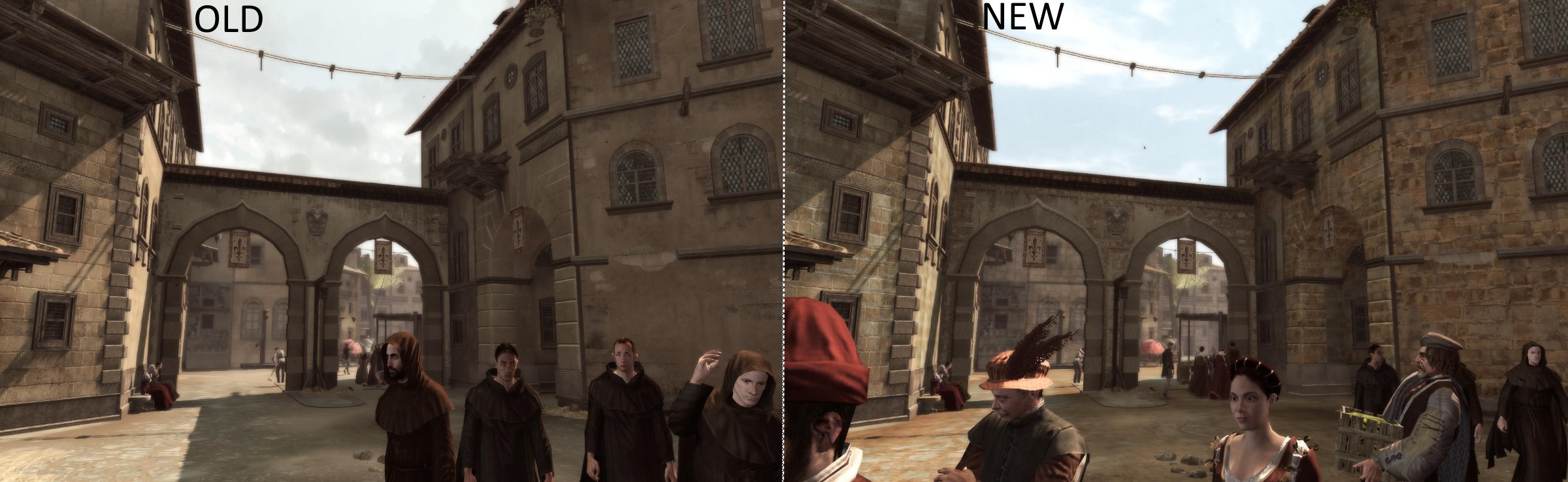 Assassin's Creed 2 - Overhaul 2 0 mod is now available, comparison
