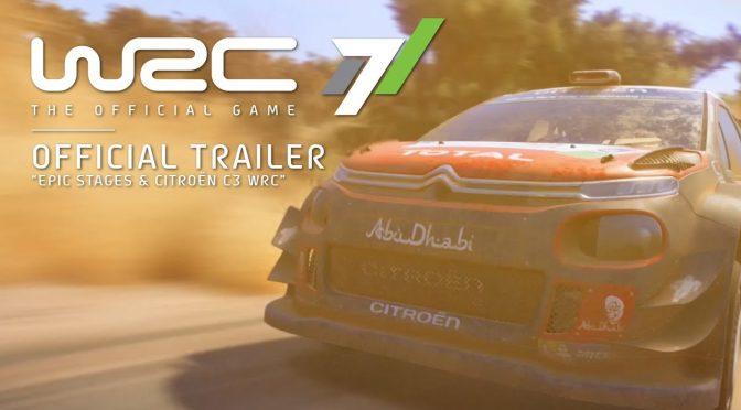 WRC 7 – New trailer focuses on the Citroen C3 World Rally Car