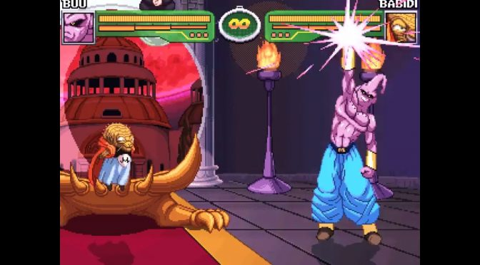 Hyper Dragon Ball Z, free fan-made 2D DBZ fighting game, new version adds Buu