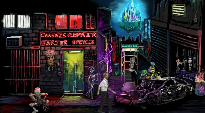 Neofeud is an interesting cyberpunk point-and-click adventure game, created by a single person