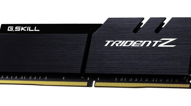 G.SKILL Announce New DDR4-4600MHz Extreme Performance Trident Z Memory