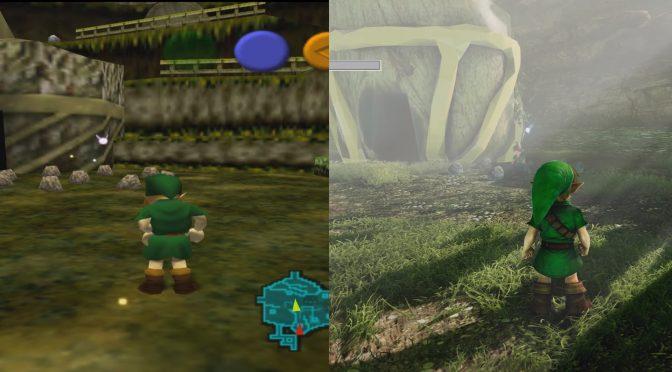 The Legend of Zelda: Ocarina of Time – Unreal Engine 4 Remake versus N64 Version