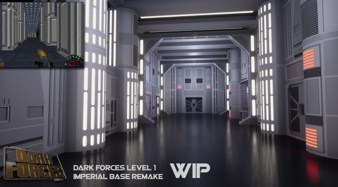 Obsidian's artist is recreating Star Wars: Dark Forces' first level in Unreal Engine 4 and it looks absolutely gorgeous